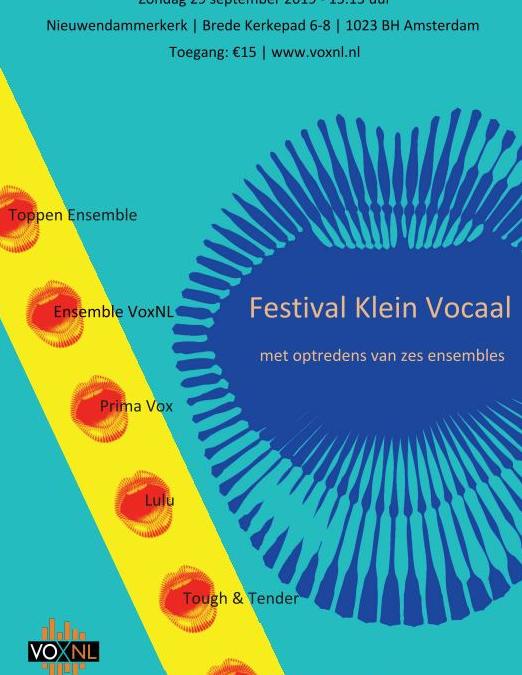 Veelkleurig Festival Klein Vocaal in Nieuwendammerkerk